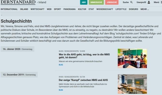 Schulgschichtn_Standard User Blog